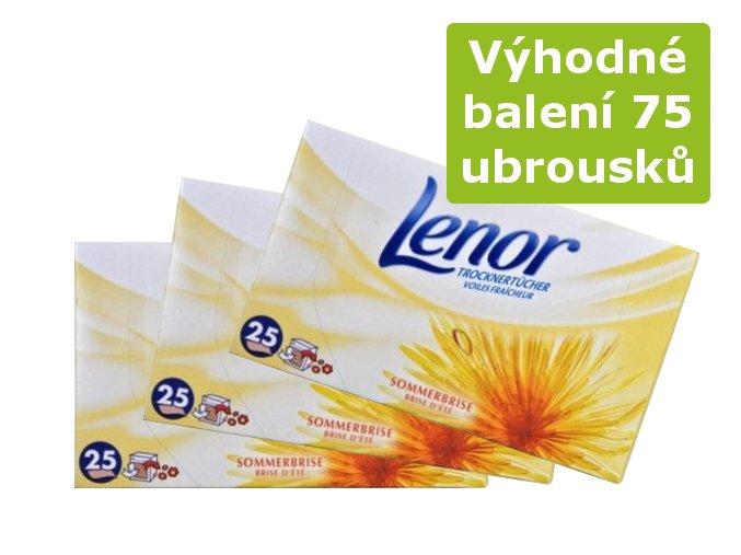 Výhodné balení Lenor Letní vánek Ubrousky do sušičky 3 x 25ks