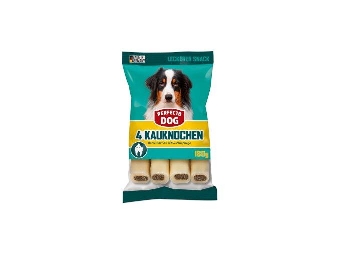 Perfecto Dog Gefuellter Kauknochen mit Rind 4 Stueck 180g