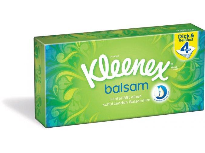 Kleenex Balsam Papírové kapesníčky Čtyřvrstvé 60ks