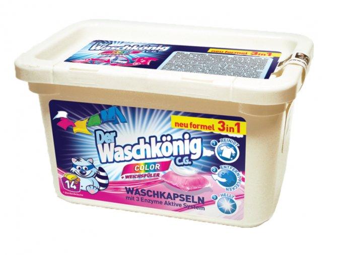 Waschkönig Color Superkonzentrat kapsle na praní barevného prádla 14 ks