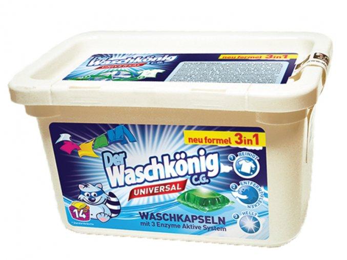 Waschkönig Universal Superkonzentrat kapsle na praní stálobarevného prádla 14 ks