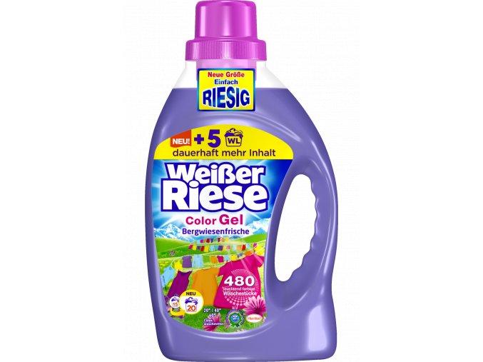 Weisser Riese Intensiv Color Bergwiesen-Frische Gel na praní 20 Pracích cyklů