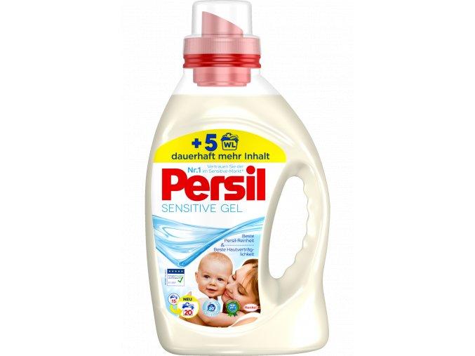 Persil Sensitive Gel na praní bílého a barevného prádla pro citlivou pokožku 20 Pracích cyklů