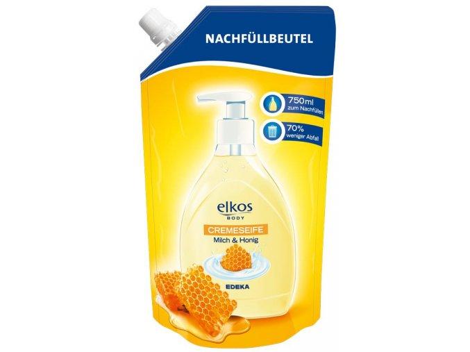 Elkos Mléko & Med Tekuté mýdlo - náhradní náplň 750ml