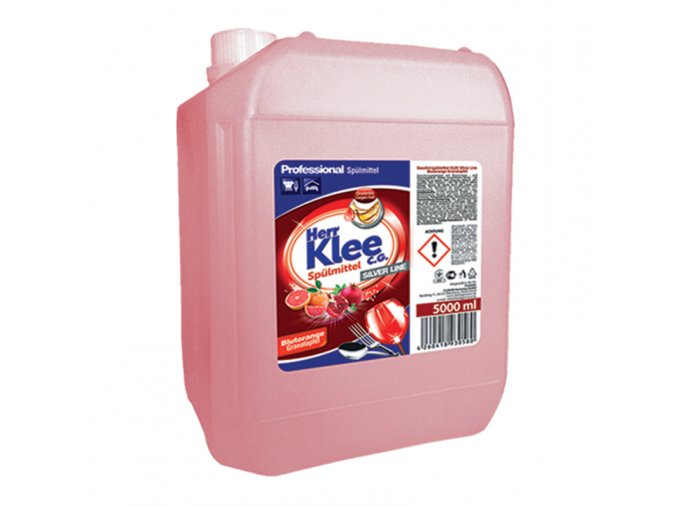Klee Professional Prostředek pro ruční mytí nádobí s vůní Červeného pomeranče a granátového jablka 5l