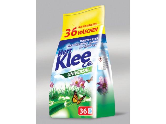 Klee Universal Prášek na praní bílého a barevného prádla 36 Pracích cyklů