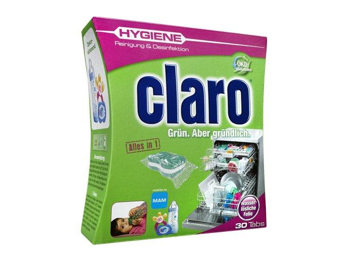 Claro Hygiene Speciální Tablety do myčky s dezinfekční schopností 30ks - BIO