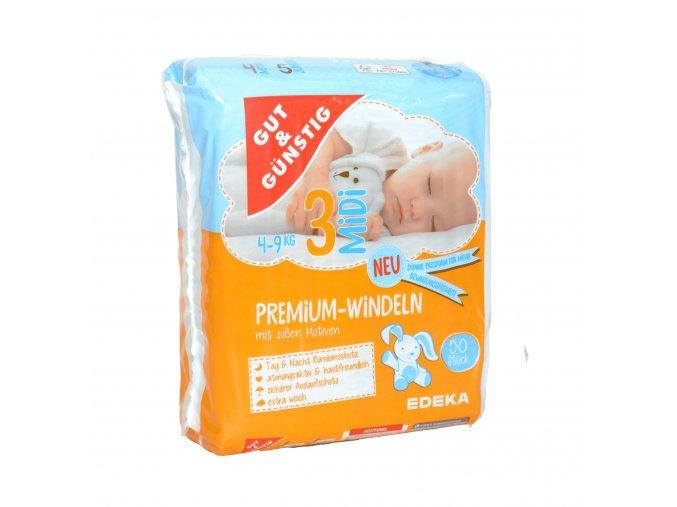 Premium dětské pleny MIDI (4-9kg) 50ks