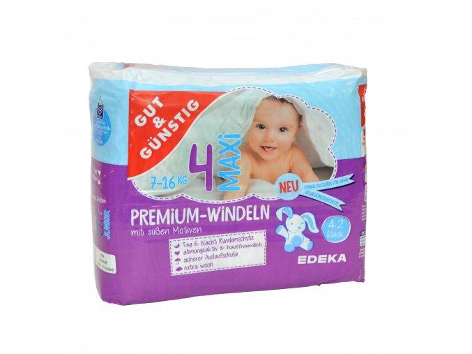 Premium dětské pleny MAXI (7-16kg) 42ks