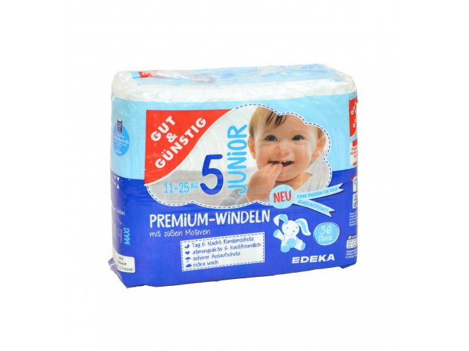 Premium dětské pleny JUNIOR (11-25kg) 33ks