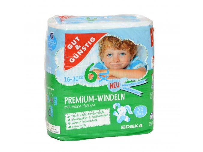 Premium dětské pleny XL (16-30kg) 28ks