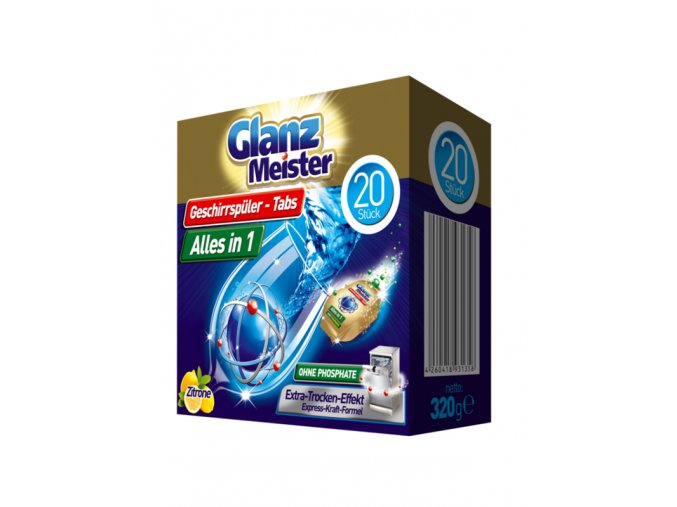 Glanz Meister dishwasher tablets 20 pieces