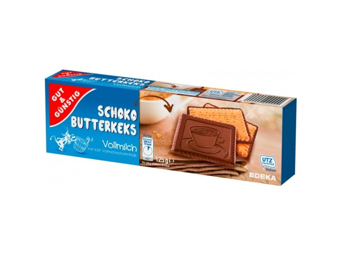 G&G Sušenky s mléčnou čokoládou 125g