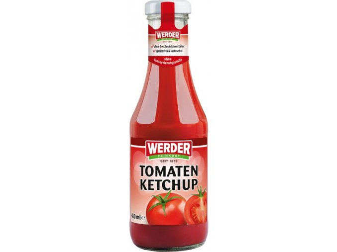 werder tomaten ketchup 450 ml