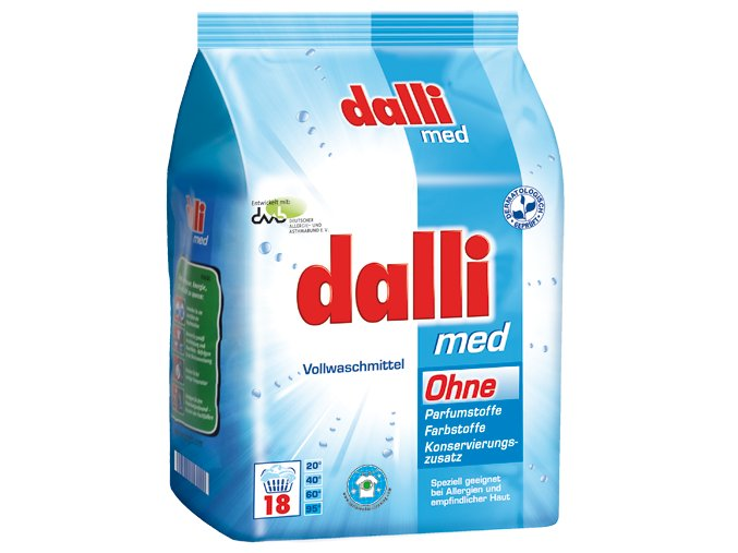 Dalli Med Prášek na praní pro alergiky 18 Pracích cyklů