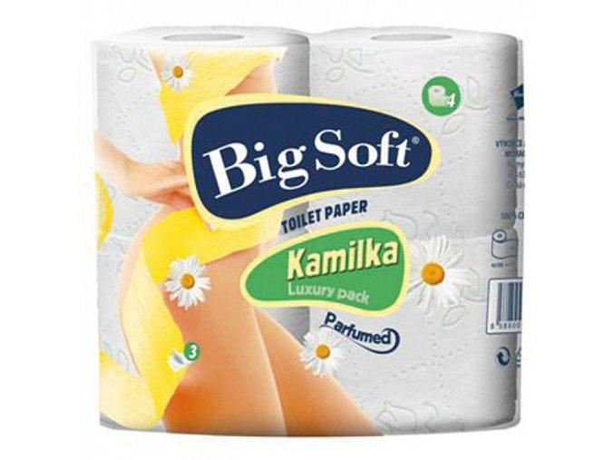 Kamilka Big Soft Luxury pack Toaletní papír třívrstvý 4ks á 160 útržků