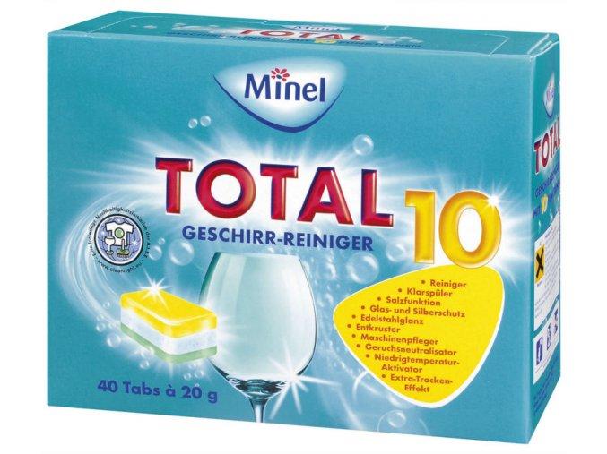 Minel Total 10 Tablety do myčky 40ks