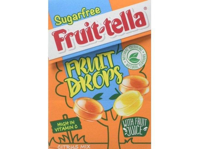 fruittella sugar free fruit drops citrus mix 45g