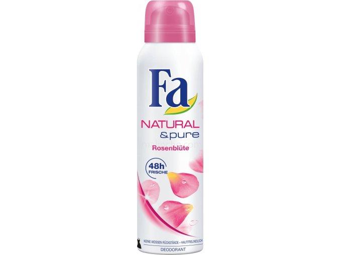 Fa Deodorant 150ml Natural & Pure Růžové Květy