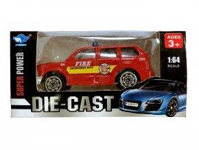 Auto 1:64 červené