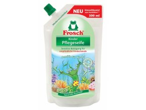 Frosch Sensitive tekuté mýdlo pro děti náhradní náplň 500ml - BIO