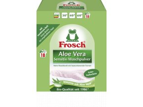 Frosch Prášek na praní Aloe Vera Sensitiv Color 18 Pracích cyklů (1,35kg) - BIO