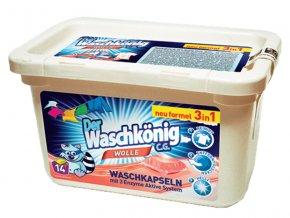 Waschkönig Wolle Superkonzentrat kapsle na praní vlněného prádla 14 ks