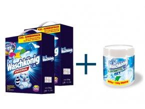 Výhodné balení 2 x Waschkönig Universal prášku na praní XXL 100 Pracích cyklů + Waschkönig OXY KRAFT WEISS - Odstraňovač skvrn pro bílé prádlo 750g ZDARMA