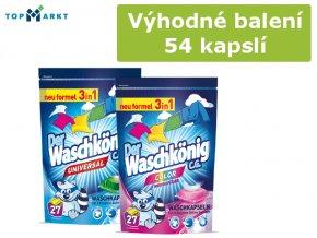 Výhodné balení 2 x Waschkönig Kapsle 3v1 27ks