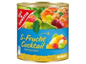 G&G Kousky 5 druhů ovoce ve sladkém nálevu 800g