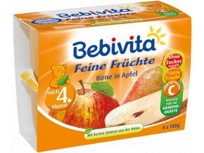 bebivita jablka s hruskami 4x100g ovocna presnidavka 1361