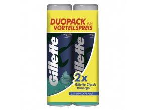 Gillette Gel na holení 2x200ml Pro citlivou pokožku