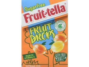fruittella sugar free fruit drops citrus mix 45g