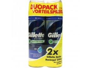 Gillette Series Gel na holení 2x200ml Pro citlivou pokožku