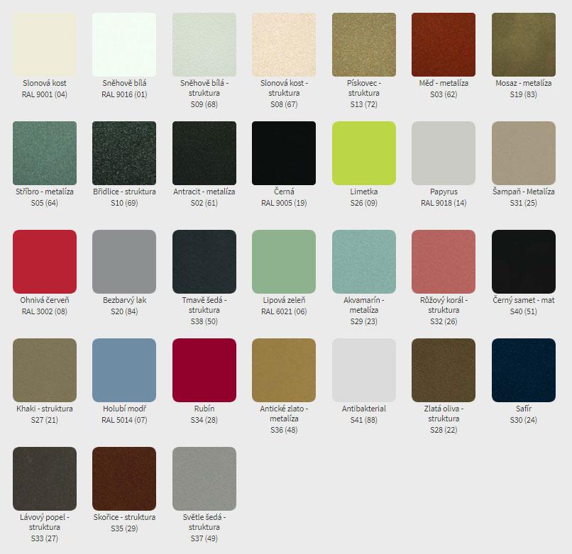 Vzorník barev ISAN