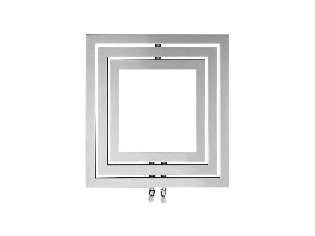 Sapho MONOPOLI otopné těleso 600x600mm, 312 W, stříbrná structural PO606SS