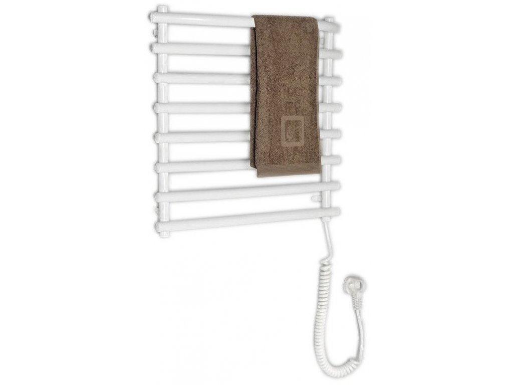 Aqualine Elektrický sušák ručníků, 570x465 mm, 72 W, bílý SU110A