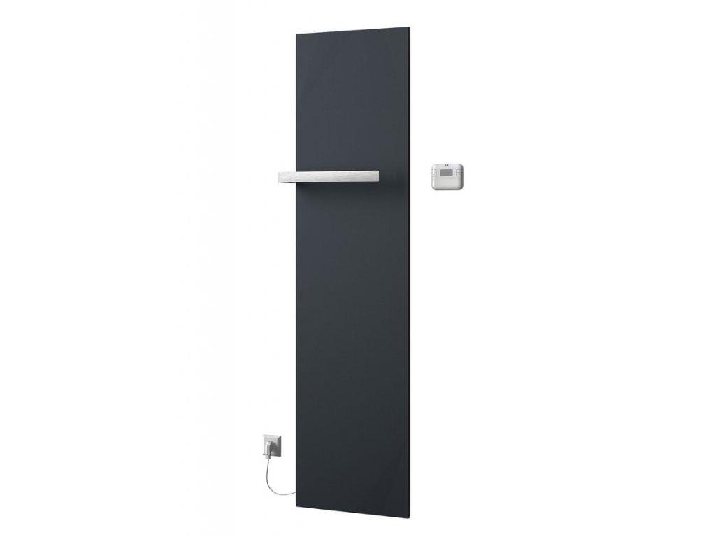 Sapho ELION elektrické otopné těleso včetně termostatu 456x1765 mm, 600 W, metalická antracit IR500