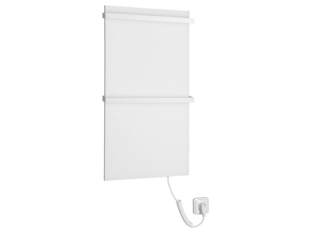 Sapho ELMIS elektrický sušák ručníků 400x800mm, 120W, hliník, bílá mat EB420
