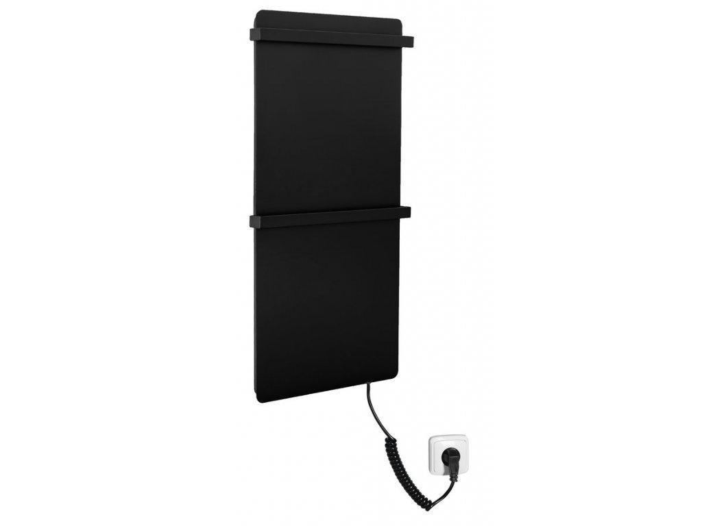Sapho ELMIS elektrický sušák ručníků 400x800mm, 120W, hliník, černá mat EB430
