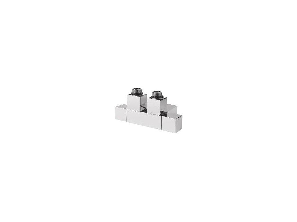 Sapho CUBE TWIN připojovací sada ventilů pro středové připojení, rozteč 50 mm, chrom CP581