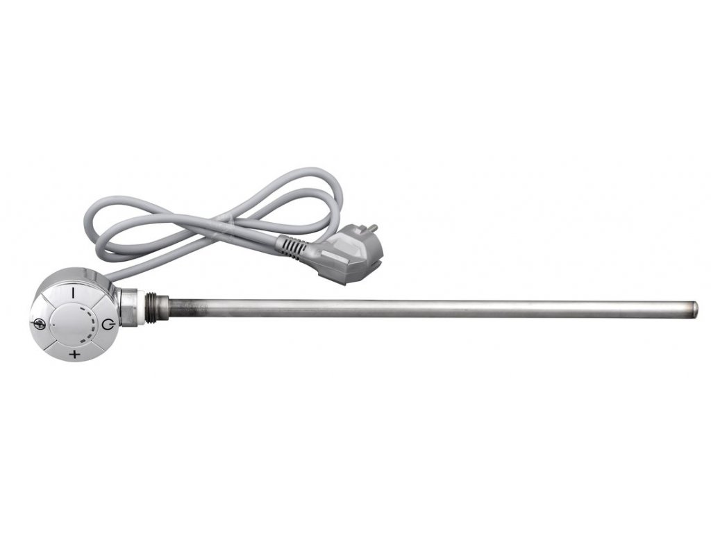 55692 elektricka topna tyc s termostatem rovny kabel 500 w chrom