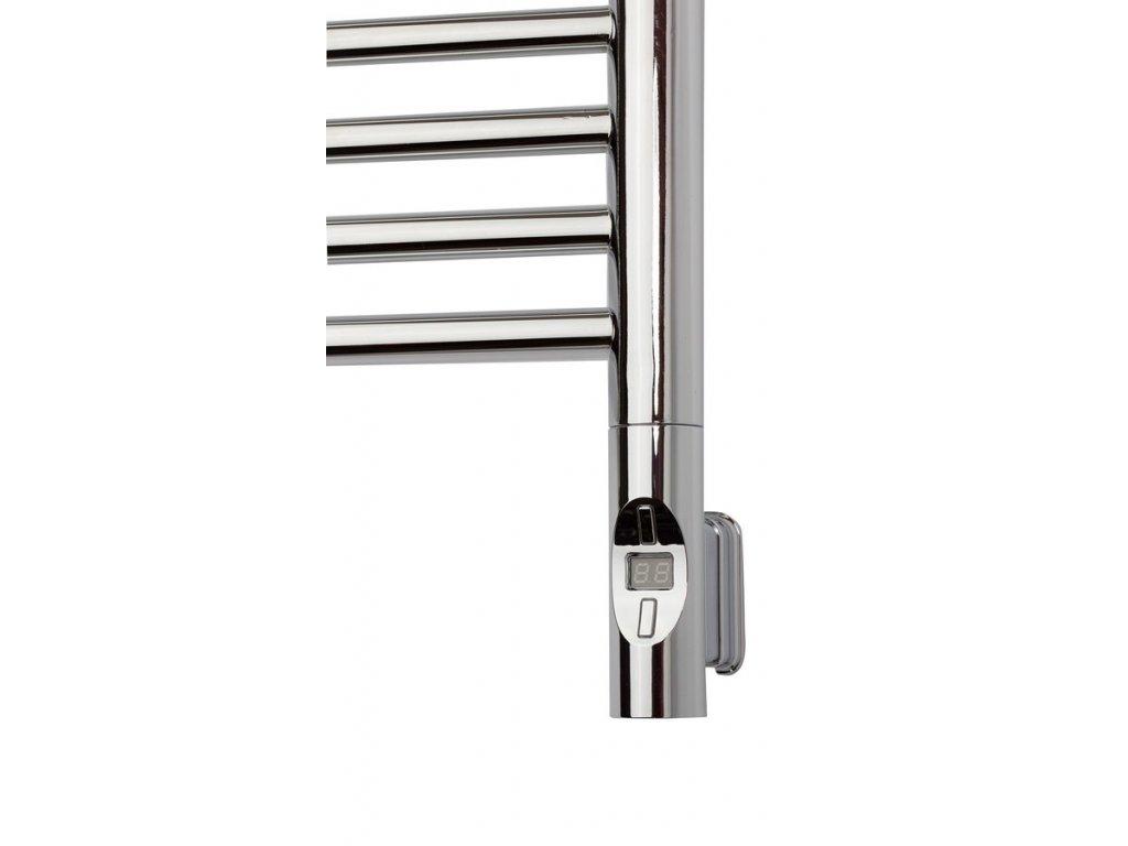 Sapho Elektrická topná tyč s termostatem a dálkovým ovládáním, 300 W, kulatá, chrom HVO-300C