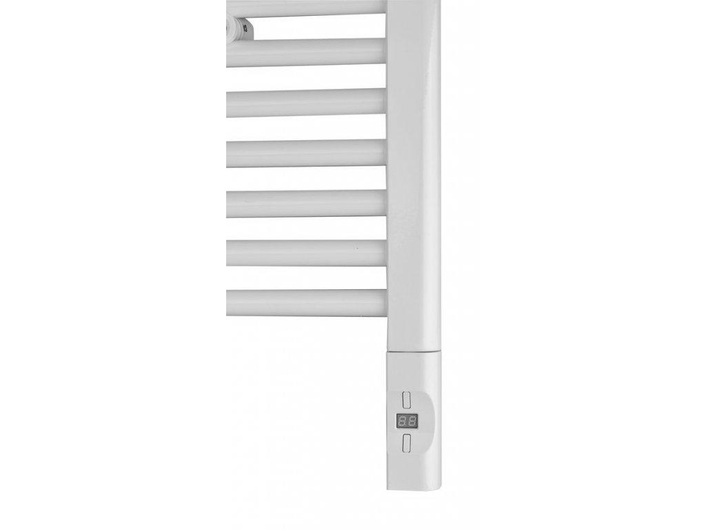 Sapho Elektrická topná tyč s termostatem a dálkovým ovládáním, 600 W, D-tvar, bílá HVD-600