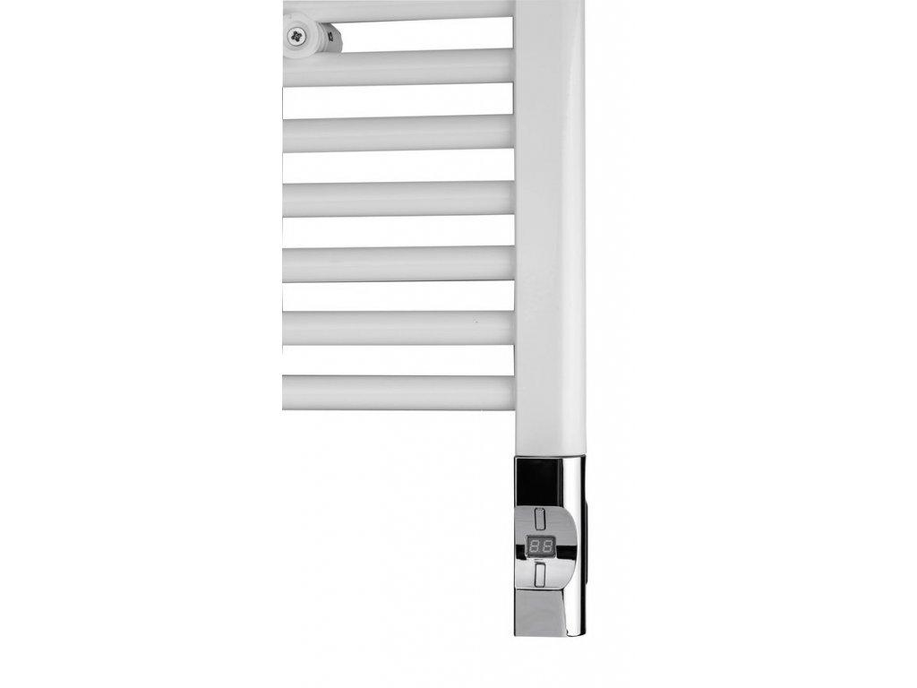 Sapho Elektrická topná tyč s termostatem a dálkovým ovládáním, 900 W, D-tvar, chrom HVD-900C