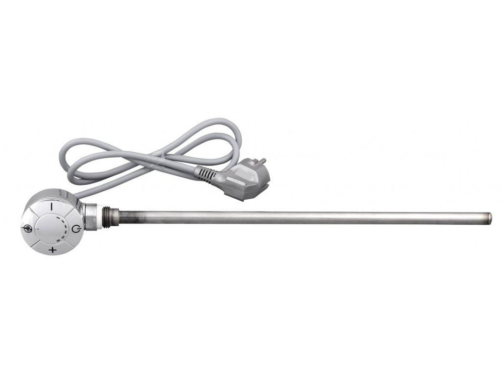 102063 elektricka topna tyc s termostatem rovny kabel 600 w chrom