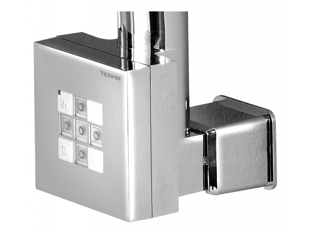 Sapho KTX topná tyč s termostatem, s krytem pro kabel, 300 W, chrom KTX-CW-300