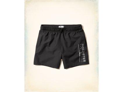 Kvalitní značkové pánské plavky Hollister v černé barvě