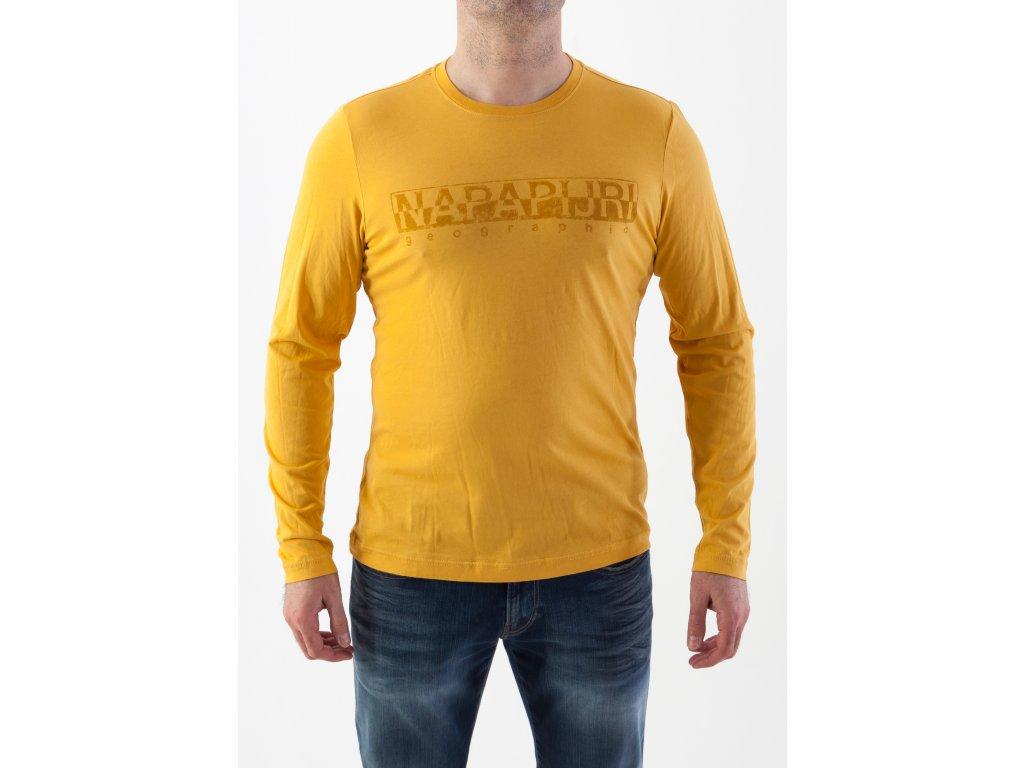 Pánske tričko v žltej farbe Napapijri - TOP OUTLET c1deca13d93