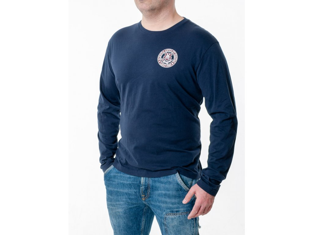 Pánske tmavomodré tričko Gant s dlhým rukávom - TOP OUTLET a4d158771f8